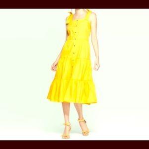 Yellow Tiered Aline Dress